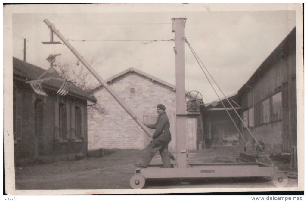 CARTE-PHOTO St-BLIN Vve Lucien MONSEL Spécialité De Batteuses DUPUIS à MONTIERS EN DER - Autres Communes