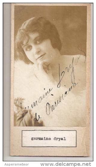"""DOUBLE AUTOGRAFO DÉDICACÉ AUTOGRAPHED """"NINON MIRBEAU & GERMAINE DRYAL"""" VINTAGE 1900 EXCLUSIVE NON CIRCULEE GECKO - Autographs"""