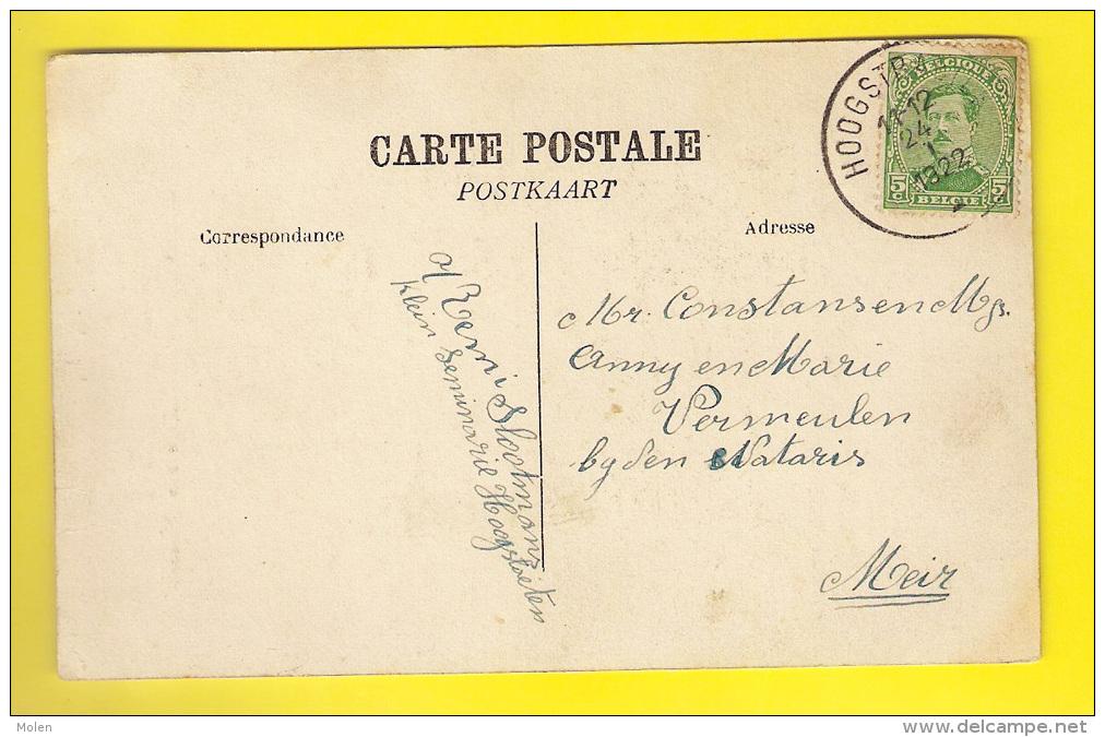 Zeldzaam KERK VAN HERSSELT = HERSELT * Kleine Animatie * In 1926 Verzonden Naar Hoogstraten 3756 - Herselt
