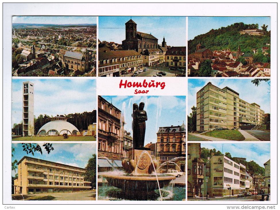 5103   Cpm HOMBURG / Saar Multivues  1974 - Saarpfalz-Kreis