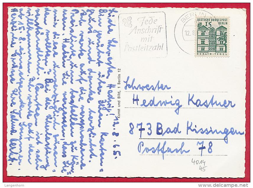 2 Foto-AK BERLIN ´Tegeler See' ~ 1965 - Tegel