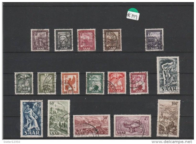 Saarland       Gestempelt   MiNr. 272-288 - Deutschland
