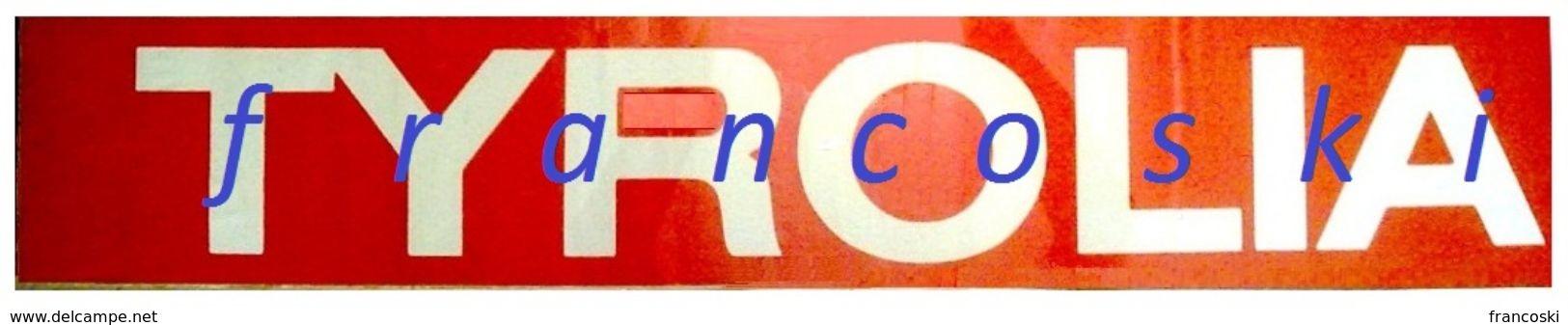 Vintage Adesivo Sticker Autocollant TYROLIA SKI BINDINGS-ATTACCHI DA SCI-[cm.16x96] -1984- - Adesivi
