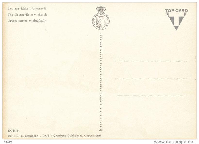 Upernavik New Church KGH Postcard Unused 1966 - Groenlandia