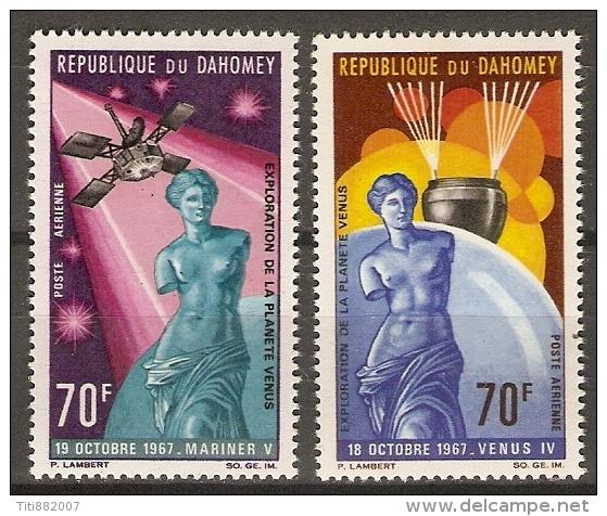 DAHOMEY.   Aéro . 1968.  Y&T N°71 / 72*.   Planète Vénus  /  Satellite / Milo ... - Bénin – Dahomey (1960-...)