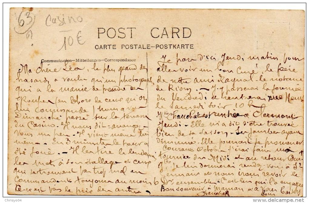 56Ba  34 Lamalou Les Bains Carte Photo Prise Sur La Terrasse à L'entrée - Lamalou Les Bains