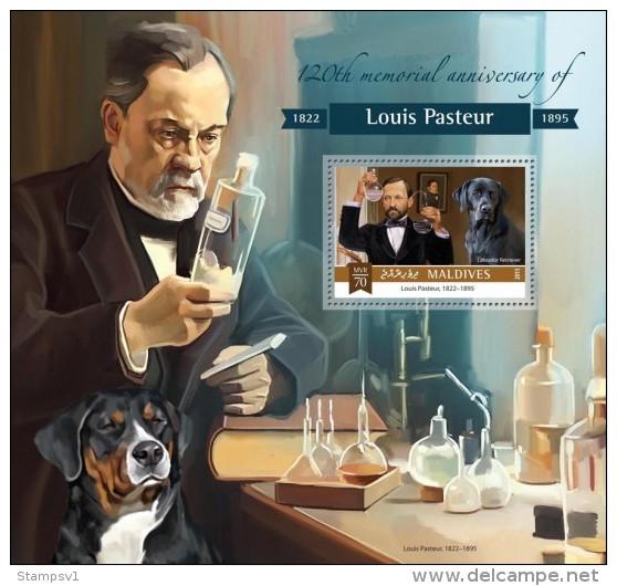 Maldives. 2015 Louis Pasteur. Dogs. (810b) - Louis Pasteur