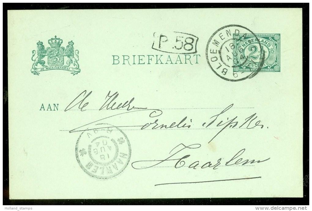 HANDGESCHREVEN BRIEFKAART Uit 1904 Van BLOEMENDAAL Naar HAARLEM (9834o) - Postwaardestukken