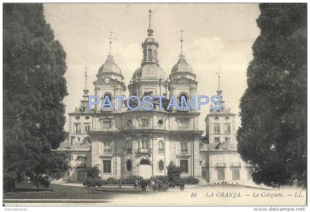 14459 SPAIN ESPAÑA LA GRANJA SEGOVIA LA COLEGIATA CHURCH POSTAL POSTCARD - Espagne