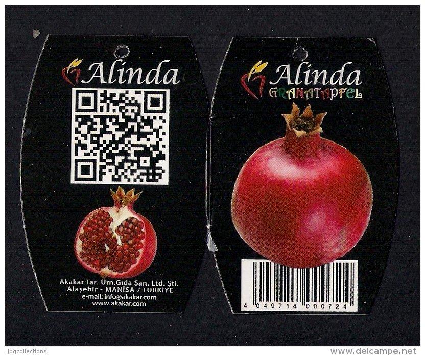 # MELOGRANO ALINDA Tag Balise Etiqueta Anhänger Cartellino Fruits Frutas Frutta Früchte Grenade Granatapfel Pomegranate - Fruits & Vegetables