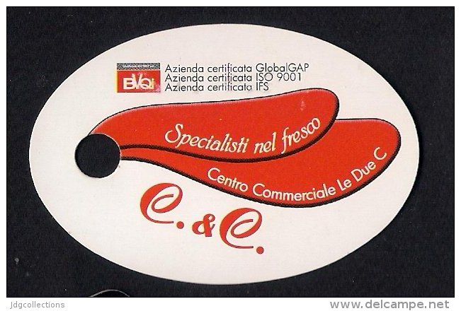 # C.&C. SICILIA Italy Tag Balise Etiqueta Anhänger Cartellino Fruits Vegetables Gemüse Verduras Pomodoro Grapes Raisin - Fruits & Vegetables