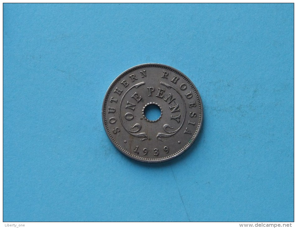 1939 - One Penny / KM 8 - Southern Rhodesia ( Uncleaned - For Grade, Please See Photo ) ! - Rhodésie
