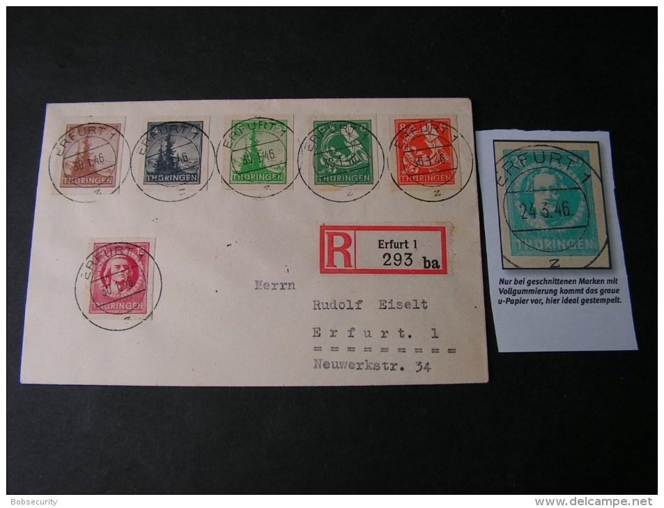 == Thüringen  Geschnittene Ideal Gestempel Auf Brief Erfurt 1949  Selten - Sowjetische Zone (SBZ)