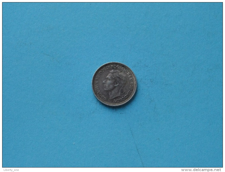 1941 - Three Pence / KM 37 ( Uncleaned - For Grade, Please See Photo ) ! - Monnaie Pré-décimale (1910-1965)