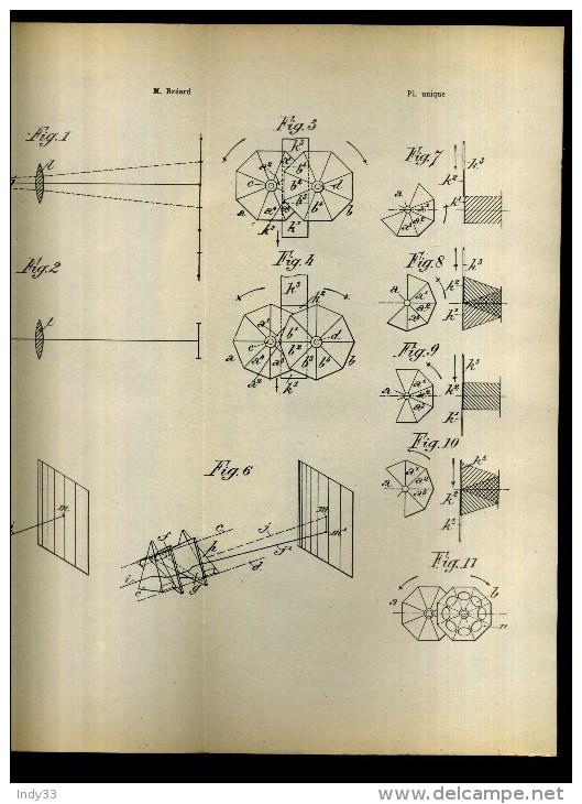 - DISPOSITIF CINEMATOGRAPHIQUE POUR DONNER DES IMAGES FONDANTES . BREVET D´INVENTION DE 1902 . - Projecteurs