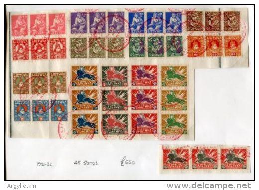 LITHUANIA 1921 AMAZING MADAGASCAR SPECIMENS - Lithuania