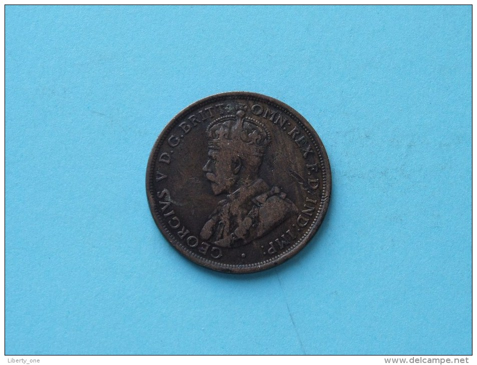 1911 - One Penny / KM 23 ( Uncleaned - For Grade, Please See Photo ) ! - Monnaie Pré-décimale (1910-1965)