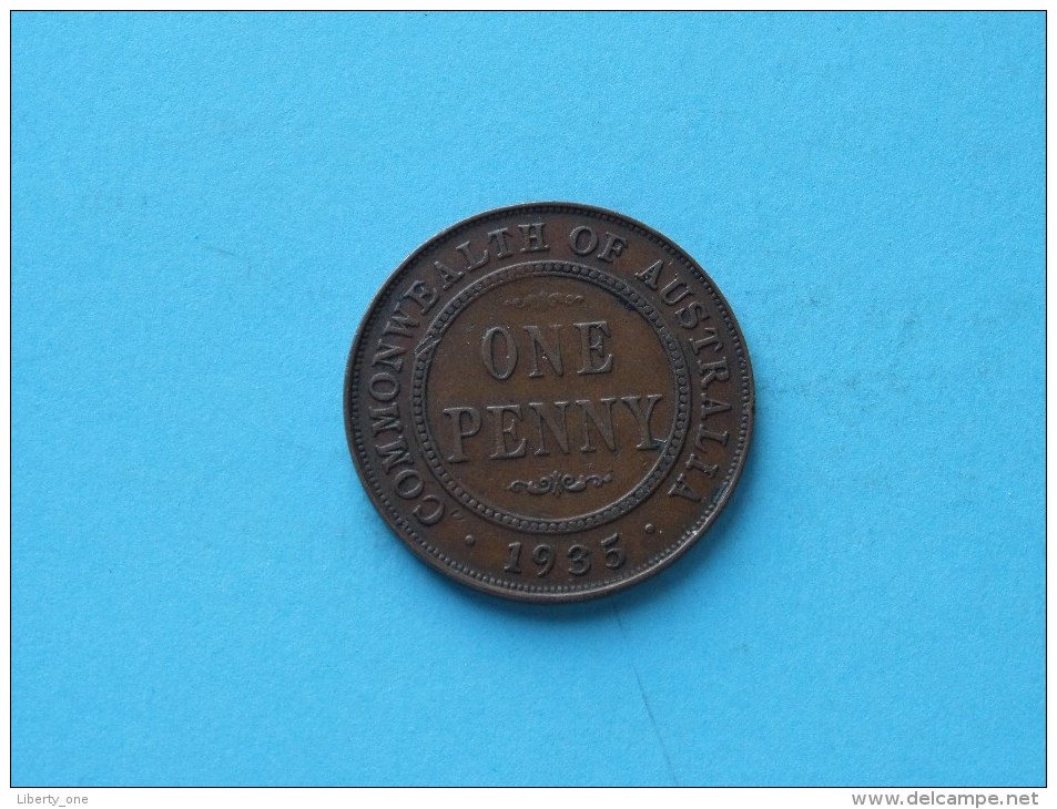 1935 - One Penny / KM 23 ( Uncleaned - For Grade, Please See Photo ) ! - Monnaie Pré-décimale (1910-1965)