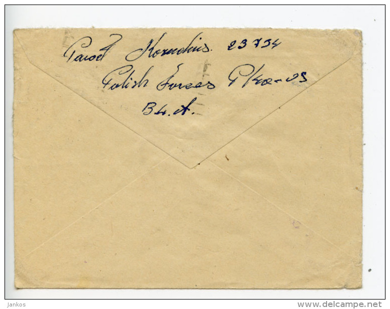 GB 27th March 1945 Censored Cover Field Post Office 252 Polish Forces In Holland To Bank Of Scotland (E218) - 1902-1951 (Kings)
