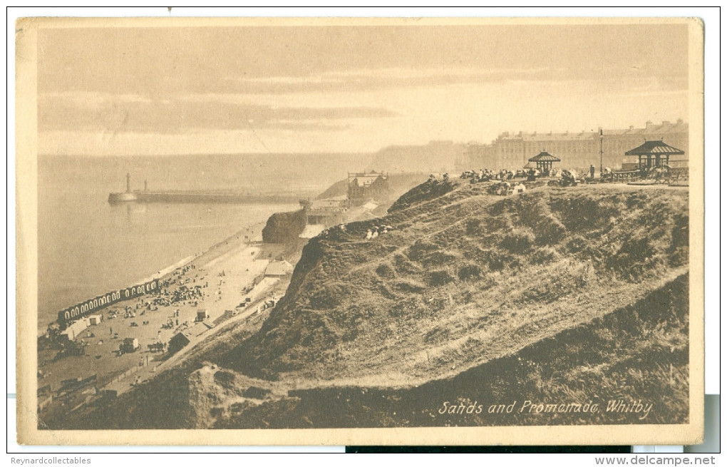 1914 Yorkshire Whitby Sands And Prom. View Pc Used Whitby - Whitby