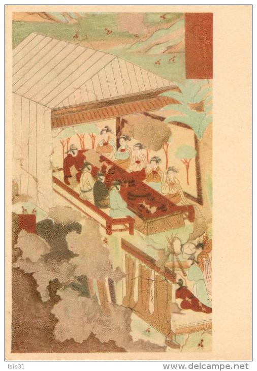 Chine - China - Grottes - Grotte N° 473 - Dynastie Des Tangs - Copie De Houo Hsi-liang - Un Festin - état - Chine