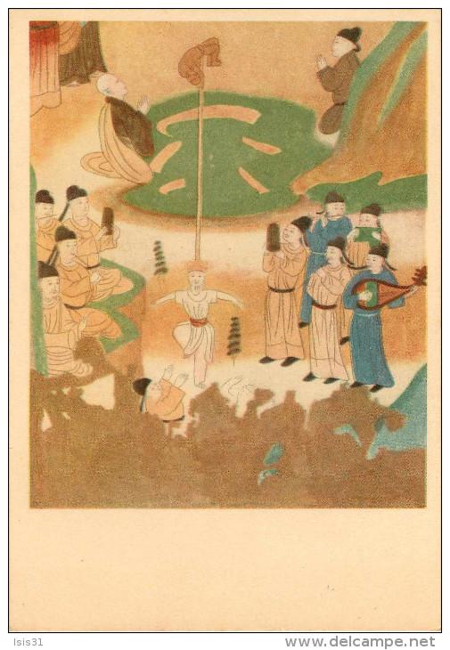 Chine - China - Grottes - Grotte N° 72 - Dynastie Des Songs - Copie De Kouan Yu-Houei - Jeux D'acrobatie - état - Chine