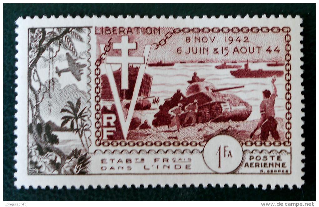 10 ANS DE LA LIBERATION 1954 - NEUF * - YT PA 22 - MI 309 - India (1892-1954)
