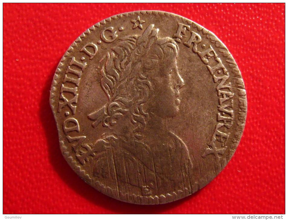 1/12ème D'écu Louis XIV à La Mèche Longue 1659 I Limoges 2749 - 987-1789 Monnaies Royales