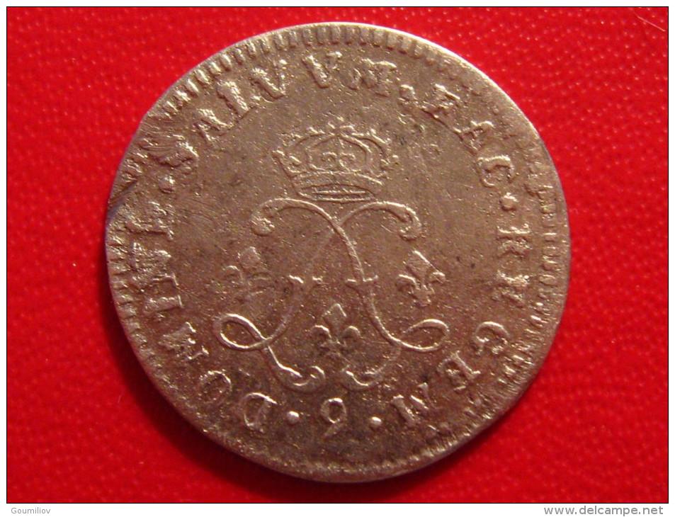 4 Sols Aux 2 L Couronnés Louis XIV 1692 9 Rennes 2734 - 987-1789 Monnaies Royales