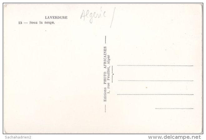 Pf. LAVERDURE. Sous La Neige. 13 - Algérie