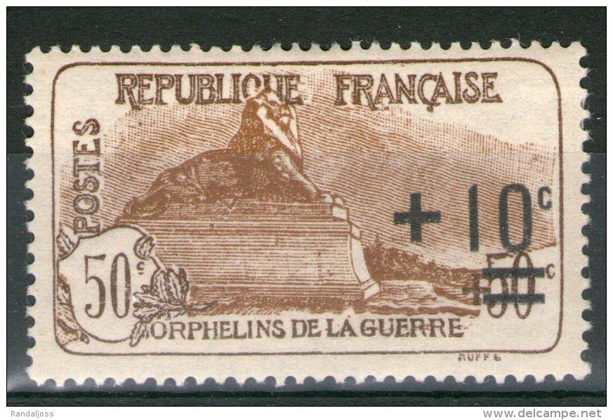 N° 167a*_1er Tirage Brun-jaune_centre Déplacé_cote 45.00+ - Nuevos