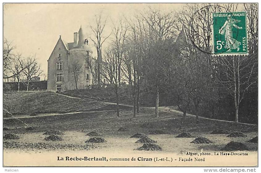 - Indre Et Loire - Ref -A166 - Ciran - La Roche Berthault Commune De Ciran - Partie Nord - Chateau - - Other Municipalities