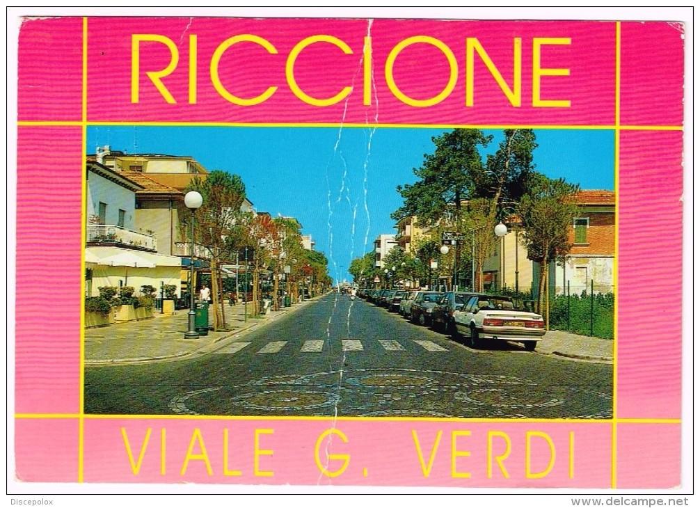 M3346 Riccione (Rimini) - Viale Giuseppe Verdi - Auto Cars Voitures / Viaggiata 1996 - Italie