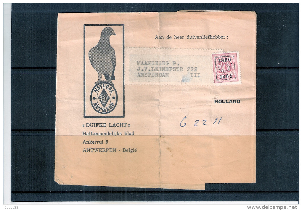 Bande De Journal - Colombophilie - RR (à Voir) - Voorafgestempeld