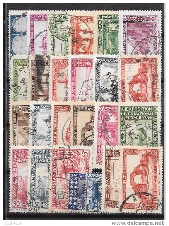 CLT64 - Algérie Lot De 64 Timbres Oblitérés , Entre N°6 Et 139 - Algérie (1924-1962)