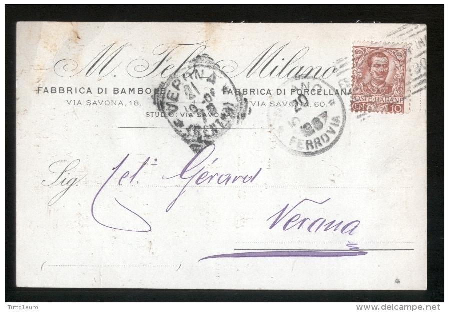MILANO - 1906 - FELS - FABBRICA DI BAMBOLE - Giochi, Giocattoli
