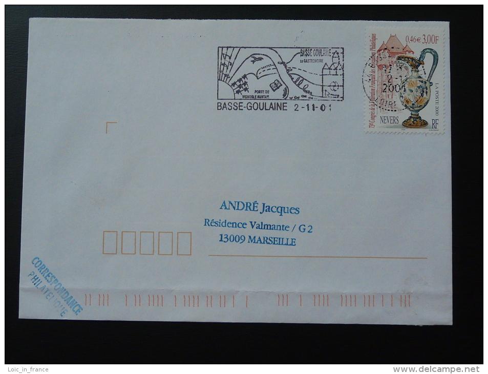 44 Loire Atlantique Basse Goulaine - Flamme Sur Lettre Postmark On Cover - Marcophilie (Lettres)