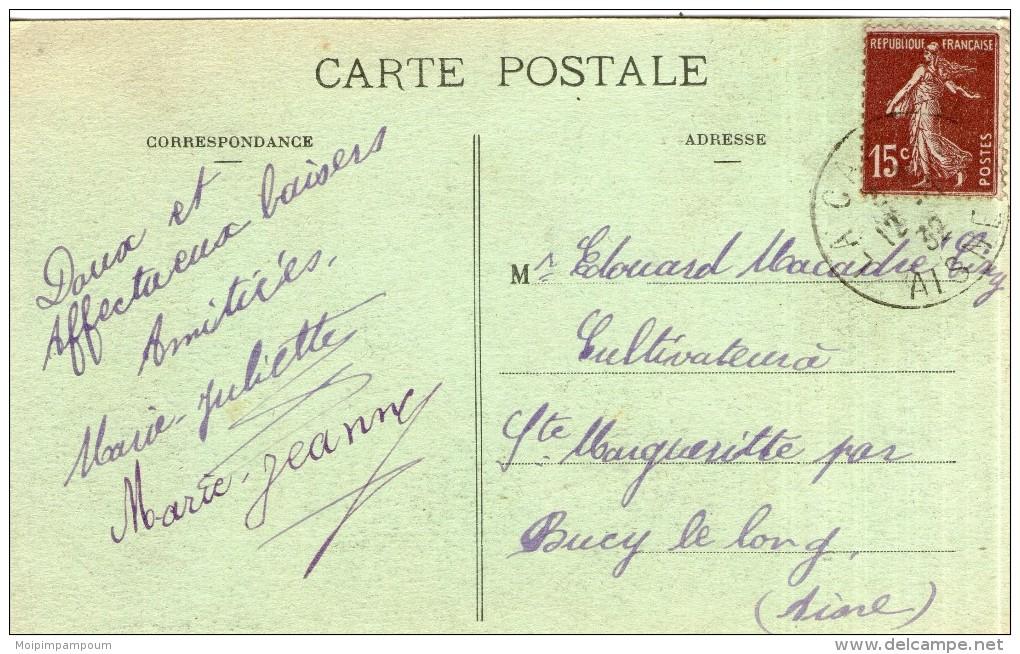 A73 / DEPT 02 CPA LA FLAMENGRIE - LA PIERRE D´HAUDROY   VOYAGEE VOIR DOS - France