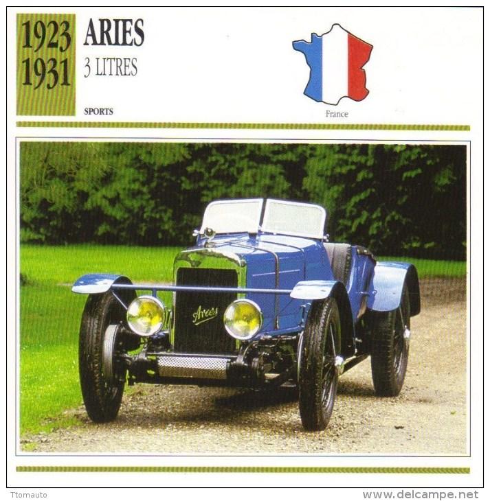 Aries 15CV 3 Litres Sports  -  1923  -  Fiche Technique Automobile (Francaise) - Voitures