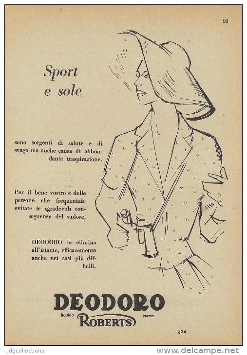 # DEODORO MANETTI & ROBERTS Florence 1950s Advert Pubblicità Publicitè Reklame Firenze Deodorant Desodorant Cosmetics - Perfume & Beauty