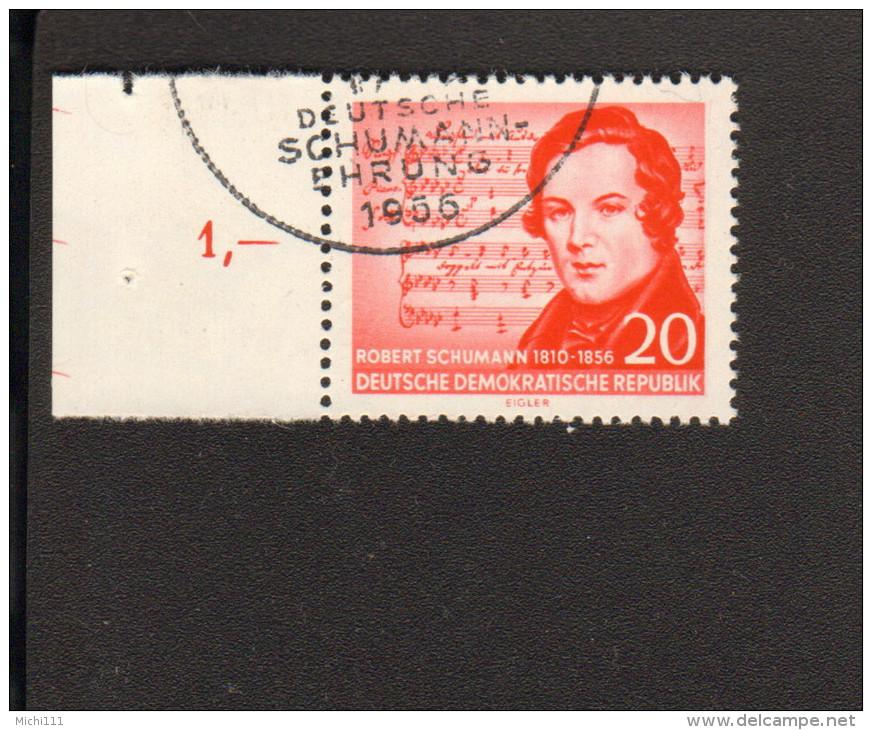 DDR Robert Schumann 100.Todestag Mi.Nr. 529 Wz. 2XI Gestempelt Geprüft Paul BPP 2 Bilder - DDR