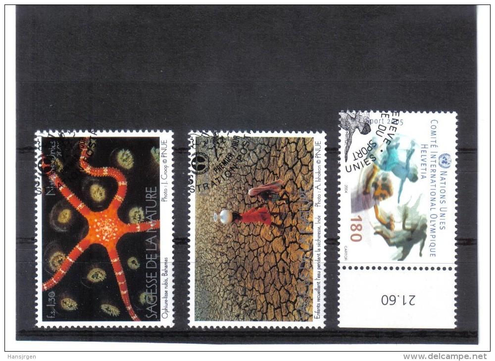 KPÖ447 UNO GENF 2005 MICHL 507 Und 514/15  Used / Gestempelt - Genf - Büro Der Vereinten Nationen