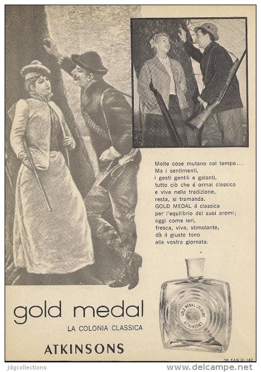 # ATKINSONS ENGLISH LAVENDER 1950s Italy Advert Pubblicità Publicitè Reklame Parfum Perfume Profumo Cosmetics Hunt - Unclassified
