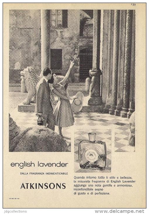 # ATKINSONS ENGLISH LAVENDER 1950s Italy Advert Pubblicità Publicitè Reklame Parfum Perfume Profumo Cosmetics Tourist - Unclassified