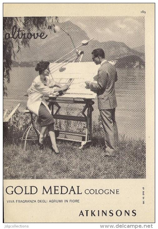 # ATKINSONS ENGLISH LAVENDER 1950s Italy Advert Pubblicità Publicitè Parfum Perfume Profumo Cosmetics Architecte - Unclassified