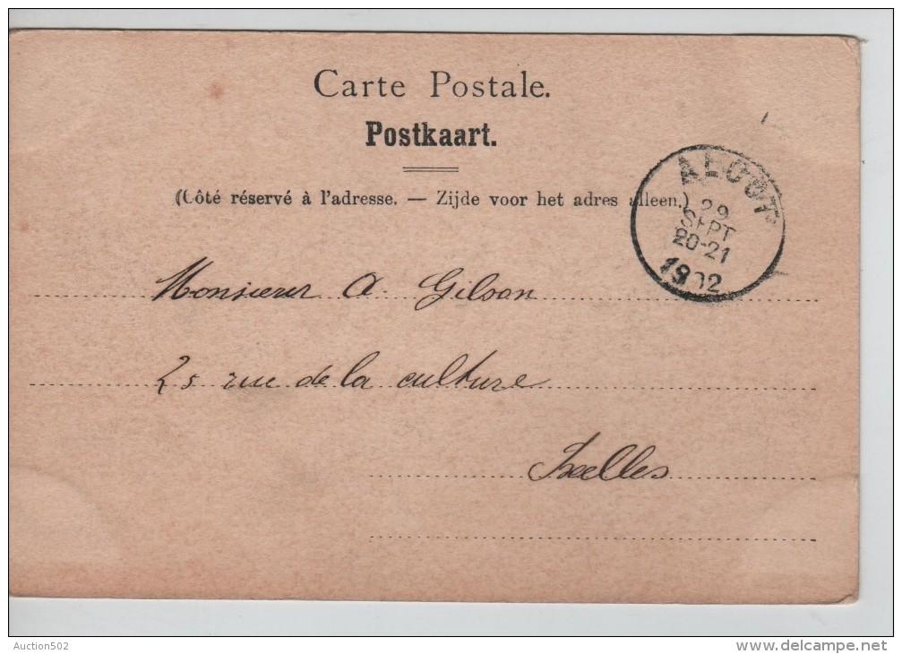 TP 53 Roulette Alost 1902 S/CP Le Beguinage D´Alost Nels Série 15 N°8 C.Alost 1902 V.Ixelles PR2265 - Precancels