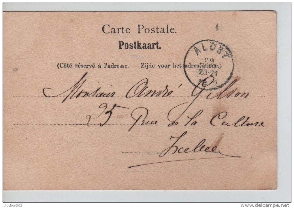 TP 53 Roulette Alost 1902 S/CP Le Beffroi Alost Nels Série 15 N°2 C.Alost 1902 V.Ixelles PR2266 - Roller Precancels 1900-09