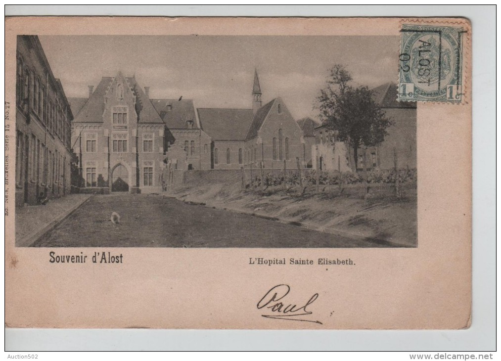 TP 53 Roulette Alost 1902 S/CP L'Hôpital Ste Elisabeth D'Alost Nels Série 15 N°27 PR2269 - Rollini 1900-09