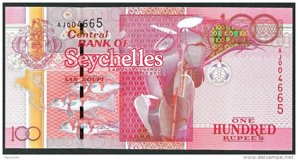 SEYCHELLES : Banconota 100 RUPEES - 2011 - FDS - Seychelles