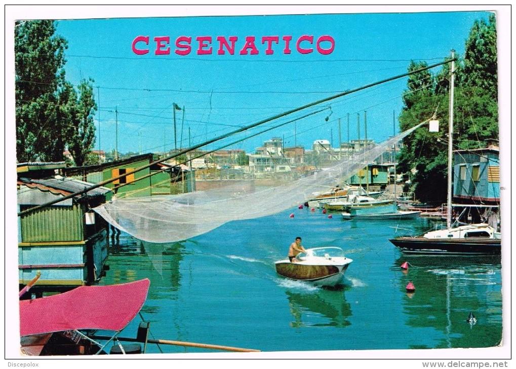 M3491 Cesenatico (Forlì Cesena) - Il Porto Canale - Barche Boats Bateaux / Viaggiata 1981 - Italia